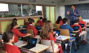 Un aula del Colegio Manuel Peleteiro, de A Coruña.