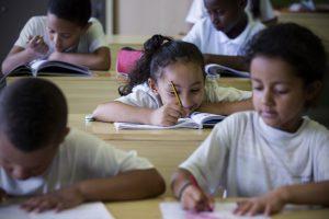 En el colegio San Antonio un 98% de los alumnos son de padres inmigrantes. (Alberto di Lolli)