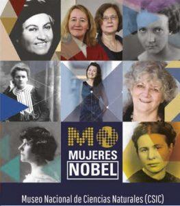 Cartel de la exposición Mujeres Nobel.