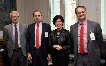 El presidente y el vicepresidente de CECE se reunieron el pasado 5 de noviembre con la ministra Isabel Celaá y el secretario de Estado Alejandro Tiana.