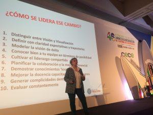 Carmen Pellicer, directora de la Fundación Trilema, también habló de cómo se lidera el cambio durante su conferencia en el 46º Congreso de CECE.