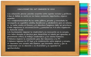 Decálogo de conclusiones de CECE para su 46º Congreso.