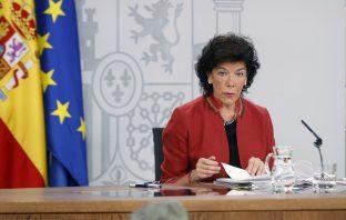 Isabel Celaá, ministra de Educación y Formación Profesional y portavoz del Gobierno.