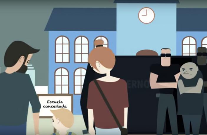 """Los centros concertados de la Comunidad Valenciana y sus familias se han unido para lanzar la campaña """"Yo Elijo"""", que defiende el derecho a elegir la educación de los hijos."""