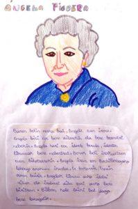La escritora Ángela Figueroa también aparece en el libro.