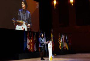La ministra de Educación y Formación Profesional, Isabel Celaá, inaugura la 37ª edición de SpainSkills en Madrid.