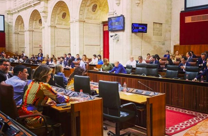 Votación en el Pleno del Parlamento Andaluz del 30 de mayo de 2019.