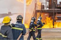El Centro de Brunete cuenta con unas instalaciones privilegiadas para la formación práctica con fuego real y otras situaciones de emergencia.