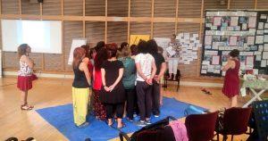 Una sala de ensayo del Teatro Real de Madrid acogió el curso LOVA que visitamos.