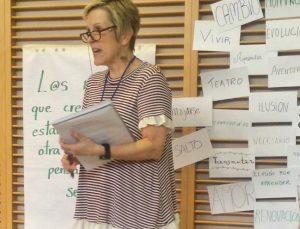 Mary Ruth McGinn, en una sesión del curso LÓVA de este mes de julio en Madrid.