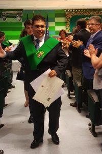 Hugo Lizana, el día de su graduación del programa Promentor en la Facultad de Formación del Profesorado de la UAM