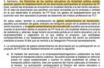 Texto de la Instrucción Sexta de 30 de septiembre de 2019 sobre FP Dual de la Dirección General de FP de Castilla-La Mancha.
