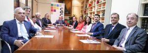 La Junta Directiva de CECE-Madrid están presentes los directores/as de los colegios San Martín, Tajamar, Alborada, CEU, San Antonio, Ntra. Sra. del Buen Consejo, Las Tablas-Valverde, Senara, Edith Stein e Internacional Eurovillas.