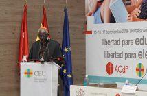 El Cardenal Robert Sarah pronunció una conferencia en la Universidad San Pablo CEU con motivo de la presentación del 21º Congreso Católicos y Vida Pública.