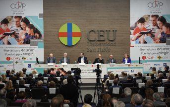Clausura del 21º Congreso Católicos y Vida Pública, en la Universidad San Pablo CEU de Madrid, el pasado 17 de noviembre.
