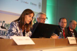 La consellera de Educación, Carmen Pomar, durante su intervención en la inauguración del 47º Congreso de CECE, en A Coruña.