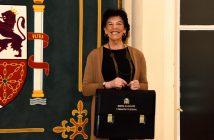 La ministra de Educación y FP, Isabel Celaá, en la toma de posesión de su cartera el 13 de enero.