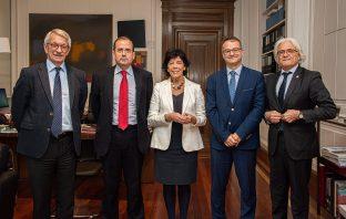 Reunión entre los responsables del Ministerio de Educación y CECE el pasado 25 de febrero en Madrid.