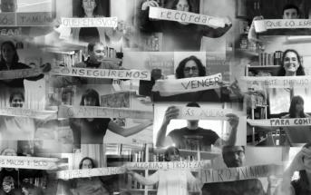 Los profes de ESO del Colegio Montesol de Vigo, cada uno con su mensaje escrito en el rollo de papel higiénico, en el vídeomontaje lleno de humor y emociones que han enviado a su alumnado por las redes sociales.