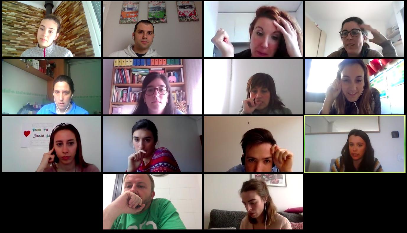 Reunión del claustro docente del Colegio NClic de Vitoria.