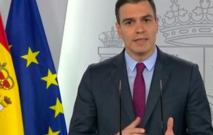 El presidente del Gobierno, durante su comparecencia para anunciar las fases de desescalada.