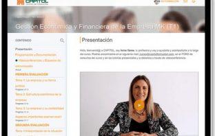 El Centro de Formación Capitol, de Valencia sigue con su horario normal de clases en su aula virtual.