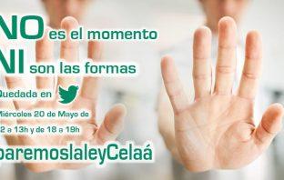 Una de las imágenes que se difundieron por Twitter en la 'quedada digital' #paremoslaleyCelaá del 20 de mayo.