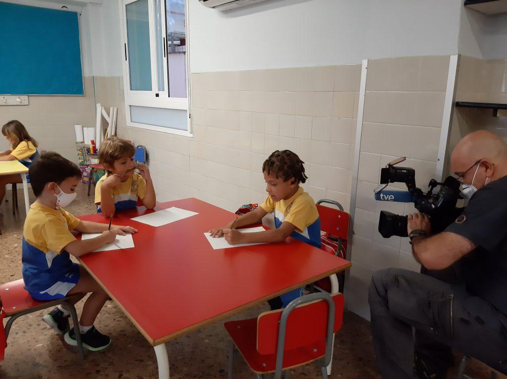 Los alumnos de Infantil del Colegio Marni protagonizaron una información de 'la vuelta al cole' en TVE.