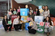 Alumnas del Colegio Ayalde, de Vizcaya, durante su participación en un congreso internacional 'MUN Impact' en febrero de 2020.