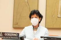 La ministra de Educación y FP, Isabel Celáa, compareció en el Congreso de los Diputados para presentar las líneas generales de la futura Ley de FP.