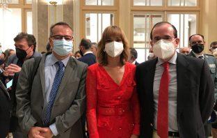 El presidente y el secretario general de CECE acompañaron a Pilar Alegría en su toma de posesión como ministra de Educación y FP el pasado 12 de julio.