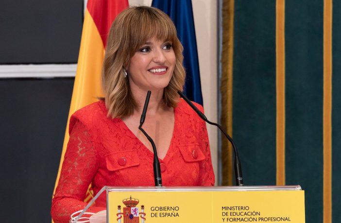 Pilar Alegría, en su toma de posesión como ministra de Educación y FP el 12 de julio.