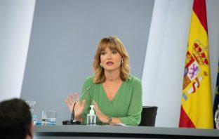 La ministra de Educación y FP, Pilar Alegría, en su comparecencia tras su primer Consejo de Ministros. (Foto: Pool Moncloa/Borja Puig de la Bellacasa)