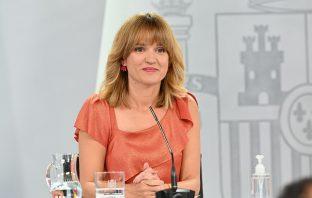 La ministra de Educación y FP, Pilar Alegría, tras el Consejo de Ministros que aprobó el proyecto de Ley Orgánica de Ordenación e Integración de la FP.