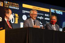 El secretario de Estado de Educación, Alejandro Tiana, y el consejero de Educación, Enrique Ossorio, acompañaron al presidente de CECE, Alfonso Aguiló, en la inauguración del 48º Congreso de CECE.