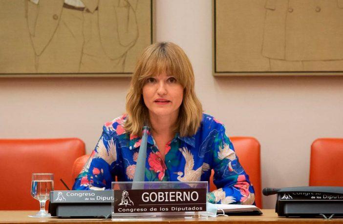 La ministra Pilar Alegría, en su comparecencia ante la Comisión de Educación y FP del Congreso de los Diputados a comienzos del curso 21-22.