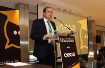 Alfonso Aguiló, presidente de CECE, durante su discurso de clausura del 48º Congreso Nacional, celebrado en Madrid.