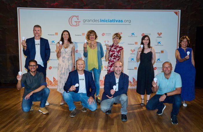 Los docentes premiados por la Fundación Atresmedia y la Fundación 'la Caixa' en la 8ª edición de Grandes Iniciativas, correspondiente al curso 20-21.